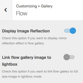 Flow Gallery Settings